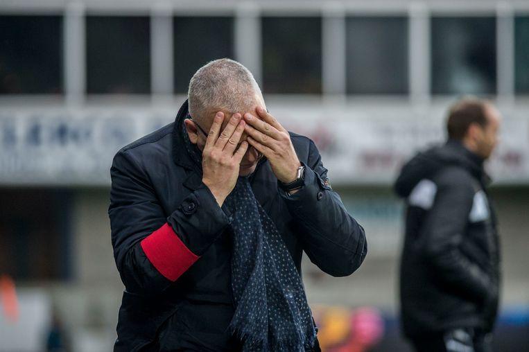 Eric Van Meir als hoofdtrainer van Lierse.