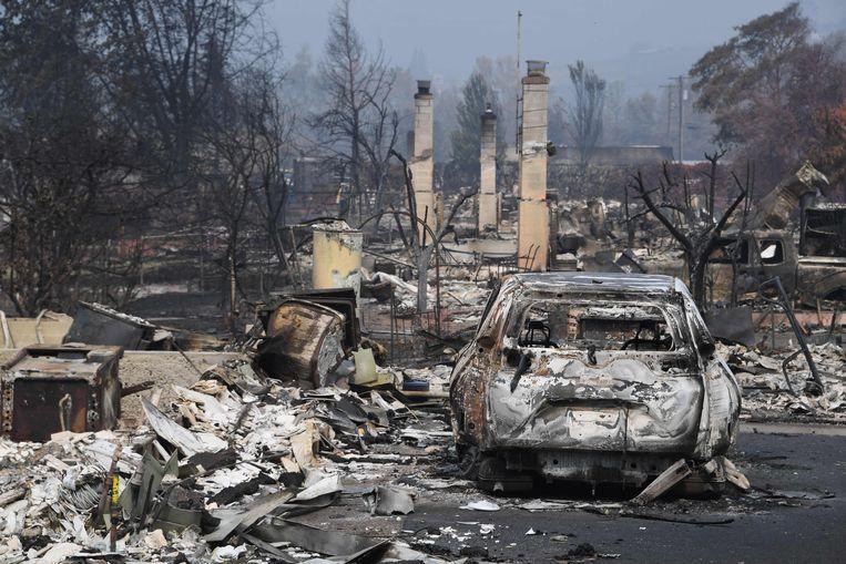 Schade in de plaats Talent in Oregon. Beeld AFP