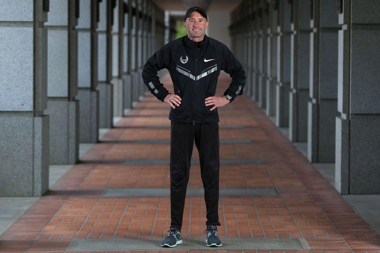 Coach Alberto Salazar van het Nike Oregon Project in Oregon. Beeld Getty Images