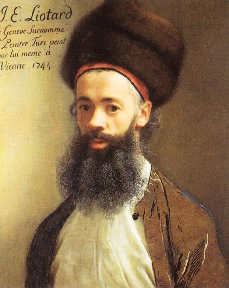 Zelfportret Jean-Étienne Liotard. Beeld Wikipedia