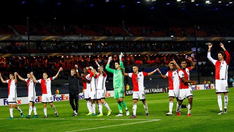 Feyenoord bedankt het publiek Beeld ANP