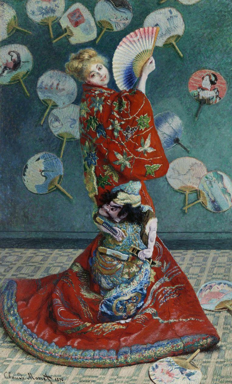 Claude Monet, La Japonaise 1876, Museum of Fine Arts, Boston Beeld Museum of Fine Arts, Boston