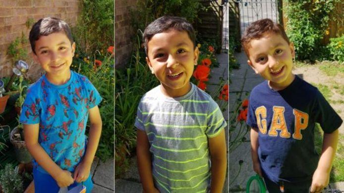 De drie ontvoerde kinderen.