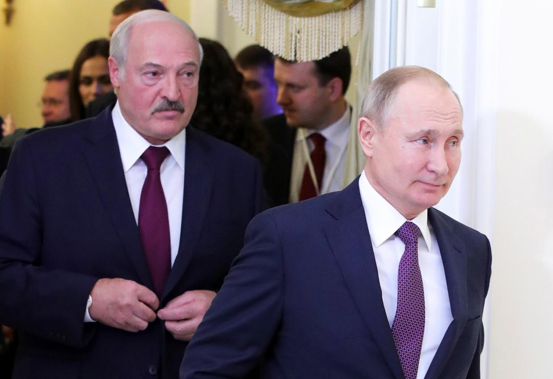 Loekasjenko en Poetin in Sint Petersburg