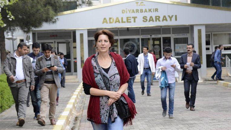 Fréderike Geerdink in Turkije. Ze is nu tegen haar zin in Nederland. Beeld Ilyas Akengin