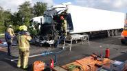 Ongeval op E34 in Ranst: twee vrachtwagens botsen