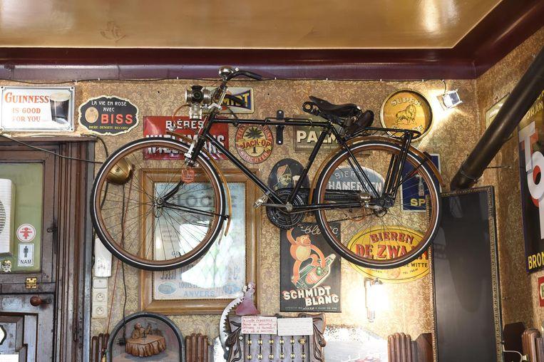 De fiets van de grootvader van de huidige uitbater