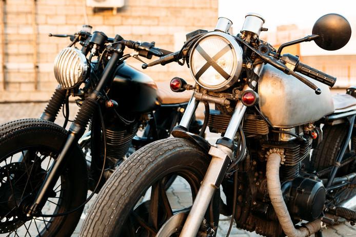 Oldtimer motorfiets.
