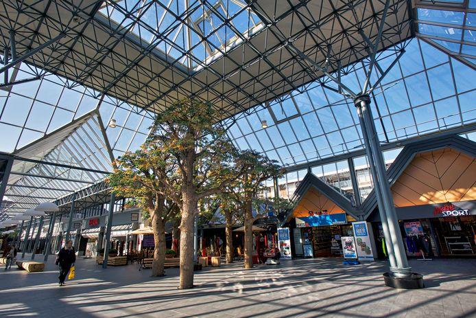 Het zogeheten Hemaplein in het winkelcentrum Arendshof in het centrum van Oosterhout.