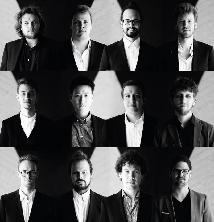 De twaalfkoppige jazz- fusion-formatie De Raad van Toezicht.