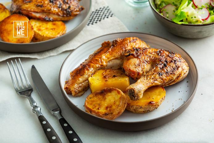 wat eten we vandaag: pittige gevlinderde kip | koken & eten