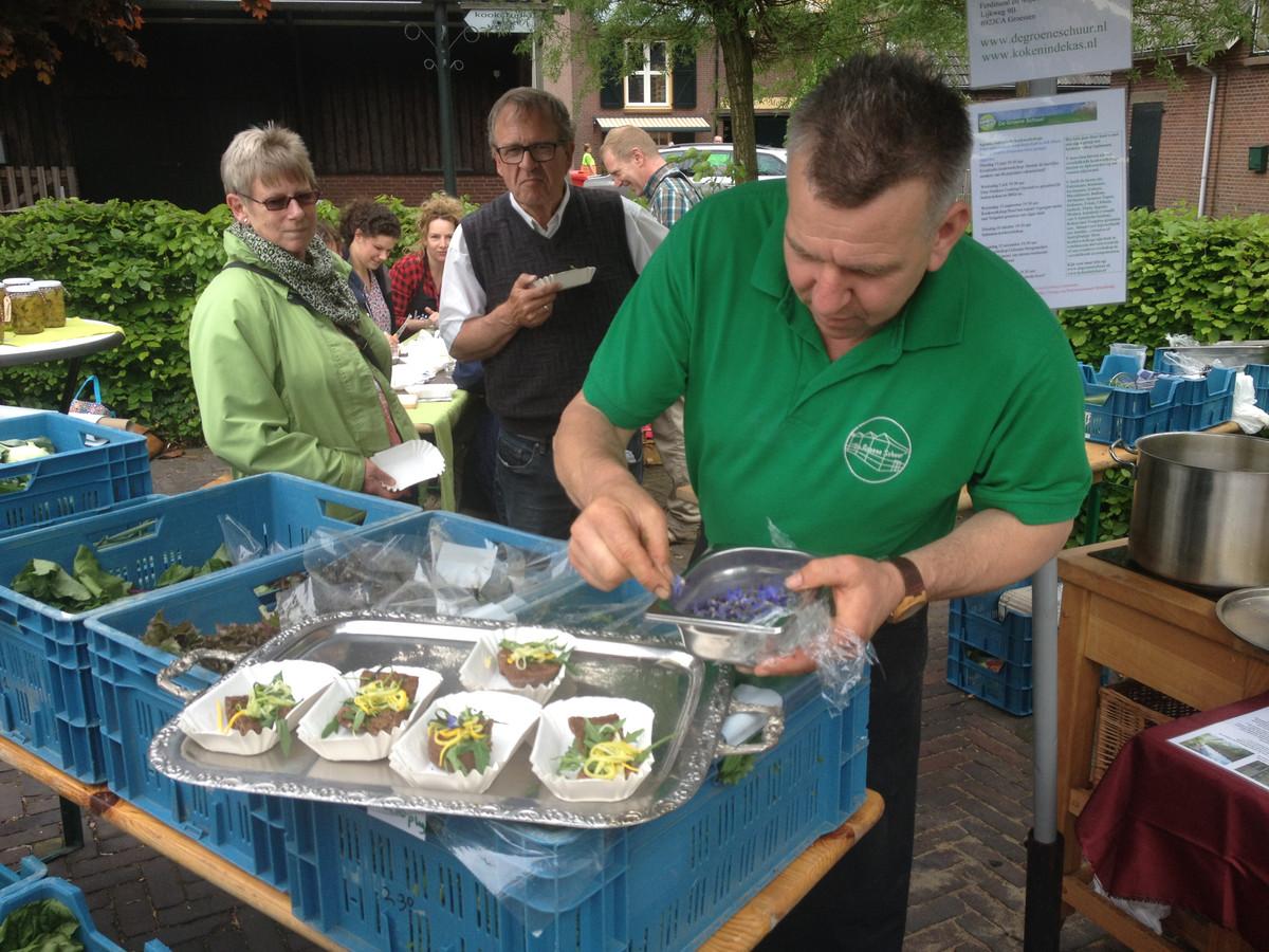 Proeverij Van Liemerse Baojem in Oud-Zevenaar, met hapjes van De Groene Schuur uit Groessen.