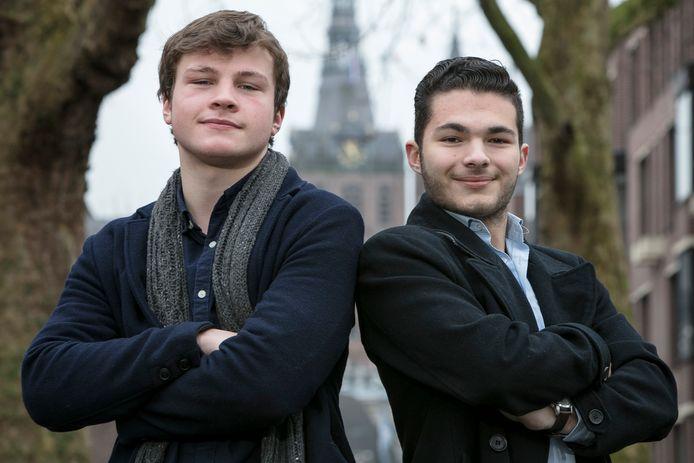 Bram Roovers SP (links) en Mikhael Hack VVD willen de gemeenteraad in.