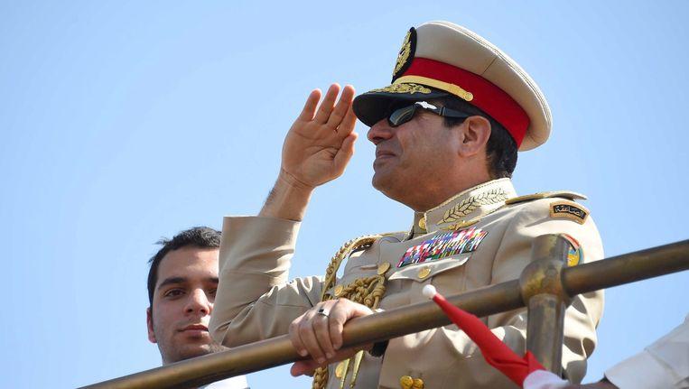 De Egyptische president Abdel Fattah al-Sisi. Beeld ANP