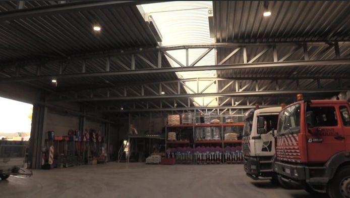 De nieuwe site voor de gemeentelijke technische dienst van Denderleeuw en de brandweer in de Veldstraat.