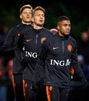 Wout Weghorst, Luuk de Jong en Myron Boadu.