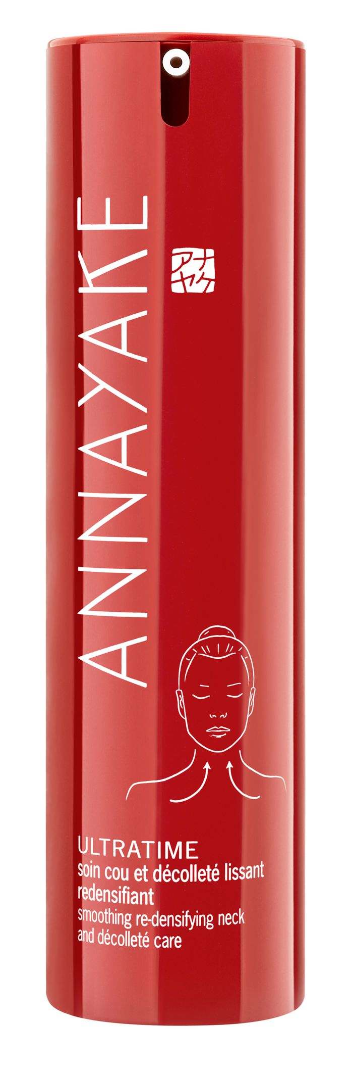 Ultratime Soin cou et décolleté lissant redensifiant de Annayake - Une texture satin qui pénètre rapidement - Prix: 80 euros.
