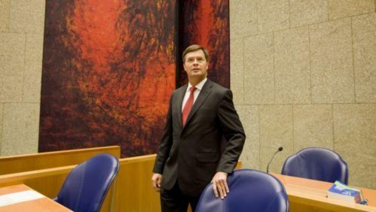 Minister-president Jan Peter Balkenende in de Tweede Kamer. Foto ANP Beeld