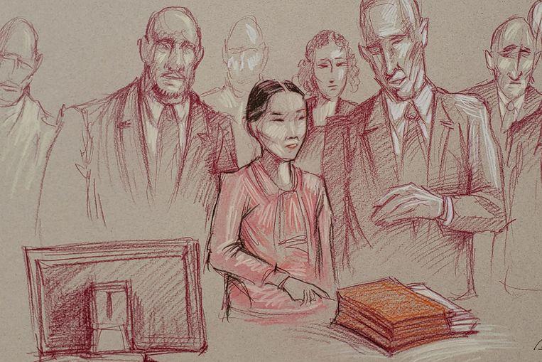 Yujing Zhang, 33, vandaag in de rechtbank.