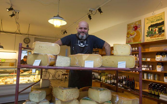 Louis Klomp van kaas en delicatessenwinkel Jokkmokk.