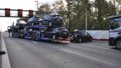 Vrachtwagen rijdt in op file E40 Drongen, automobilist (66) overlijdt - snelweg nog hele tijd dicht richting Brussel