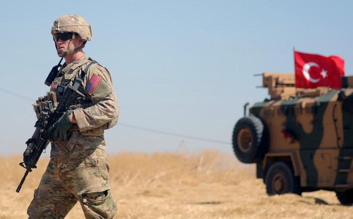 Un soldat turc dans le nord de la Syrie.