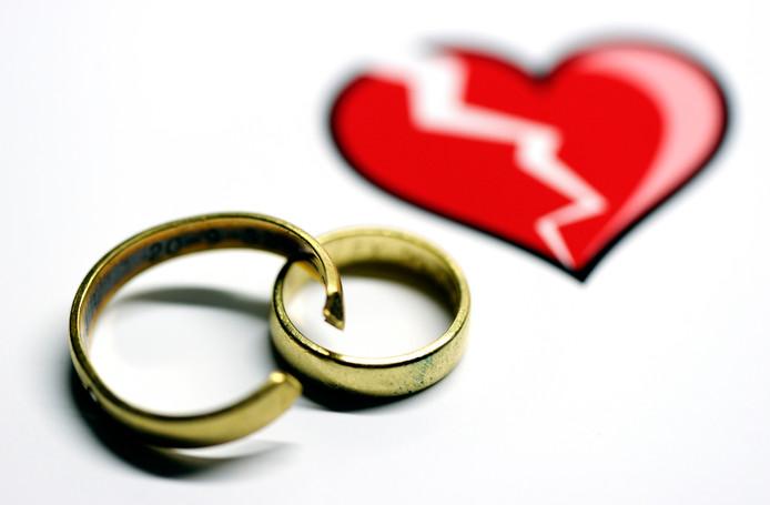 Als de liefde voorbij is, gaan veel stellen scheiden.