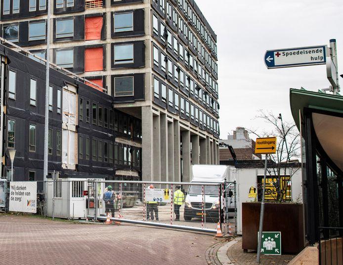 Nieuwbouw bij het Radboudumc.
