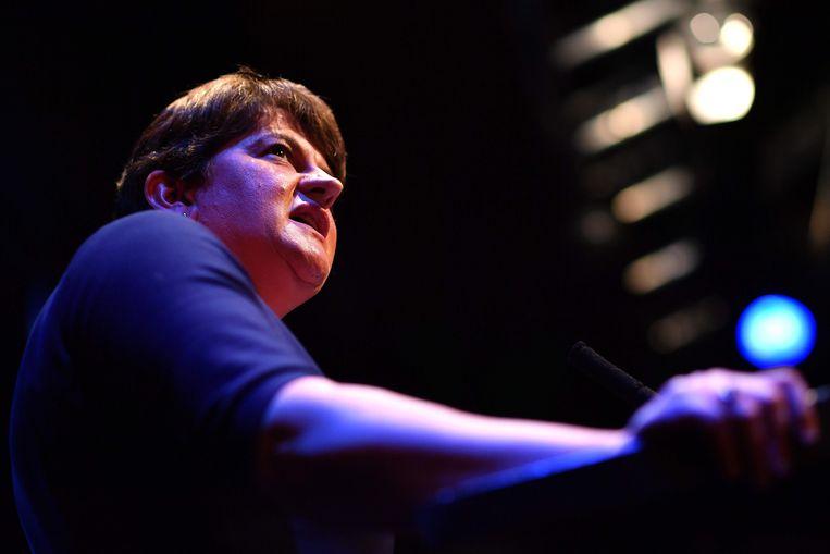 Arlene Foster, leider van de DUP.  Beeld AFP
