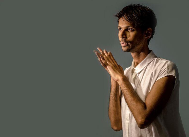 Muzikaal leider en componist Manoj Kamps: 'Bij ons is Faust aanwezig door zijn afwezigheid'. Beeld Patrick Post