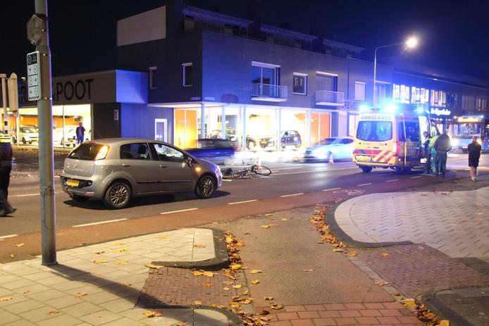 Ongeval met fietser in Emmeloord. Foto: GinoPress