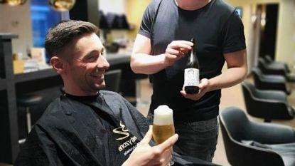"""Laat je haar knippen met een gratis streekbiertje erbij in kapsalon Beautyzone: """"Ideale manier om klanten te laten kennismaken met lokaal bier"""""""
