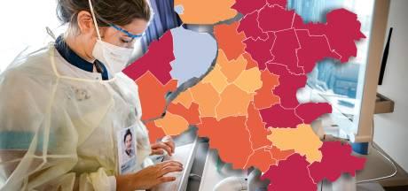 KAART I Minder corona-besmettingen in Oost-Nederland, één patiënt uit IJsselland overleden