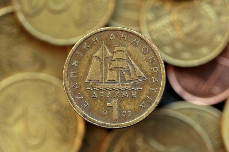 Een drachme tussen de eurocenten. Beeld REUTERS