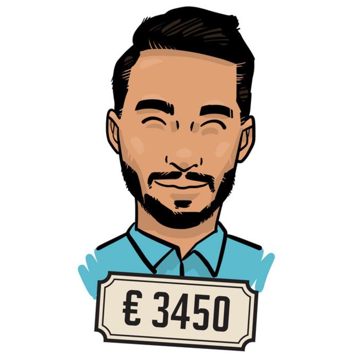 Ossy Azeuini (29): 'Naast mijn salaris krijg ik een dertiende maand en een jaarlijkse winstuitkering. Deze is behoorlijk groot.'