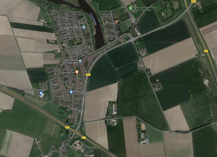 Hoekseweg (N682) langs Hoek is bij het busstation de komende weken gedeeltelijk afgesloten.
