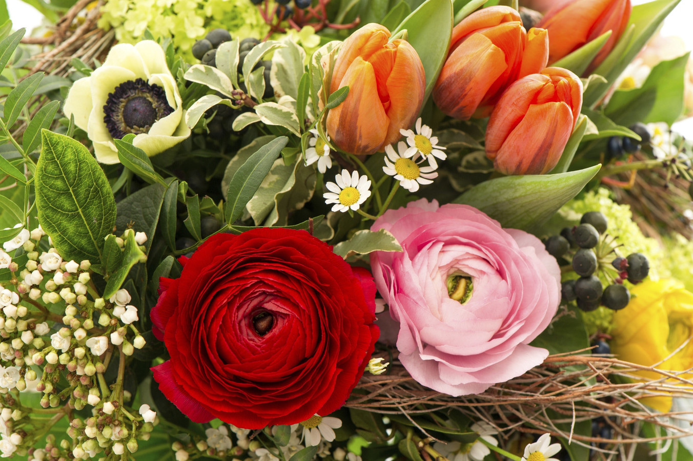 stockadr bloemen boeket feest vrijwilliger bloemetje