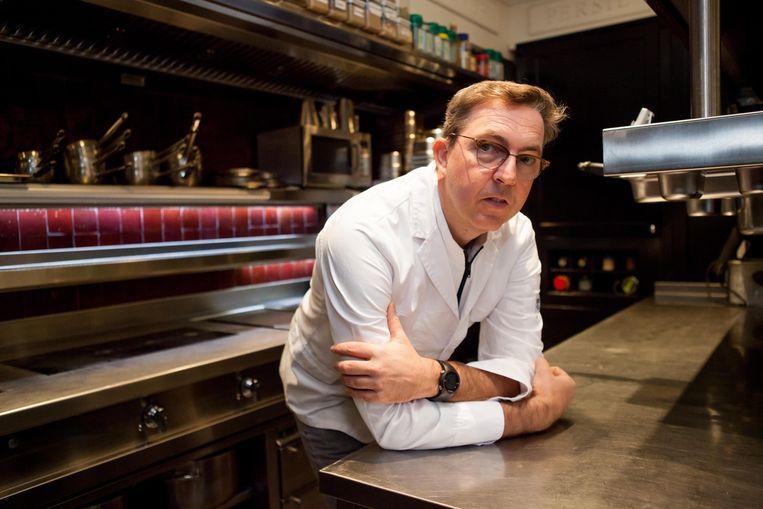"""Christophe Van den Berghe in zijn keuken: """"Een Michelinster is en blijft een mooie erkenning""""."""