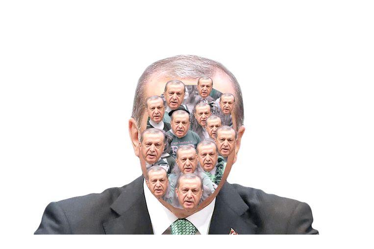 De president van Turkije Recep Tayyip Erdoğan. Beeld Fadi Nadrous