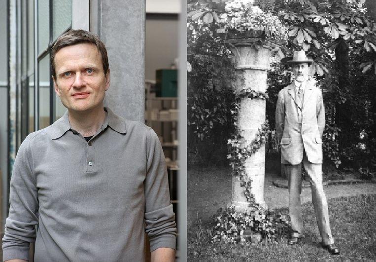 Philippe Viérin en zijn overgrootvader Jos Viérin, een van de toonaangevende architecten uit WO I.