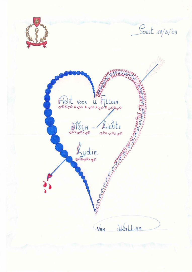 De liefdesbrief van William uit 1959
