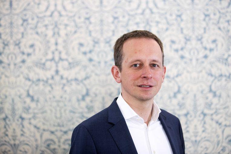 Arnout Hoekstra, EU-lijsttrekker namens de SP. Beeld ANP