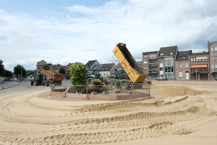 De aanleg van Niel Plage.