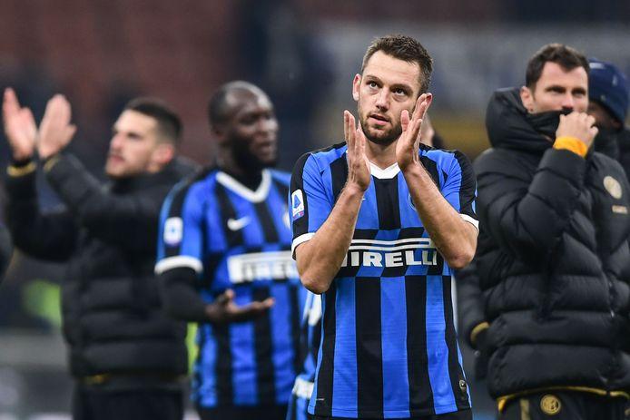 Stefan de Vrij afgelopen vrijdag na Internazionale - AS Roma (0-0).