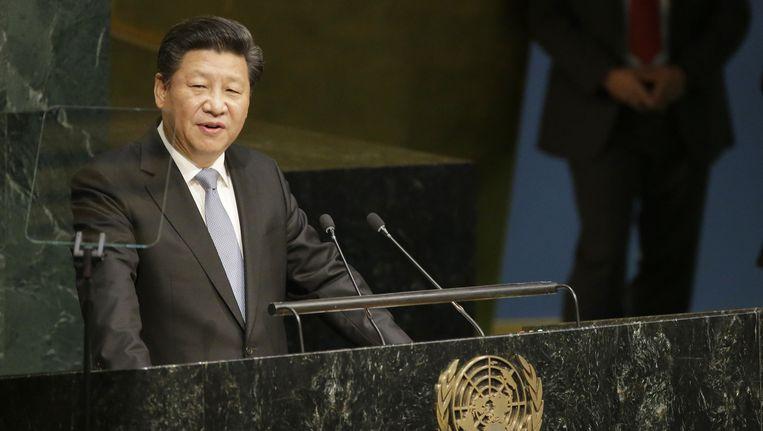 De Chinese president Xi Jinping. Beeld ap