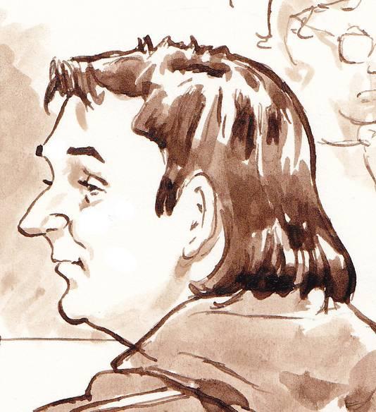 Robert M. tijdens de eerste dag van de inhoudelijke behandeling van de Amsterdamse zedenzaak bij de rechtbank in Amsterdam op 12 maart.
