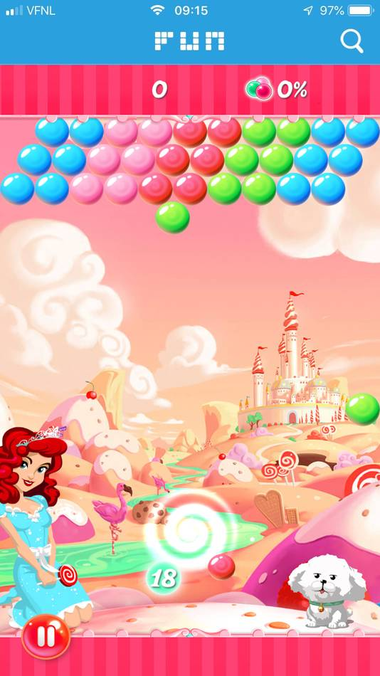 FUN omgeving in de app - CandyBubble