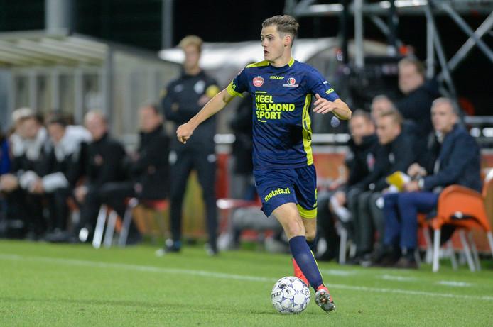 Sander Vereijken speelde vorig seizoen nog bij Gemert, maar startte gisteren in Utrecht alweer voor de vijfde keer dit seizoen in de basis bij Helmond Sport.