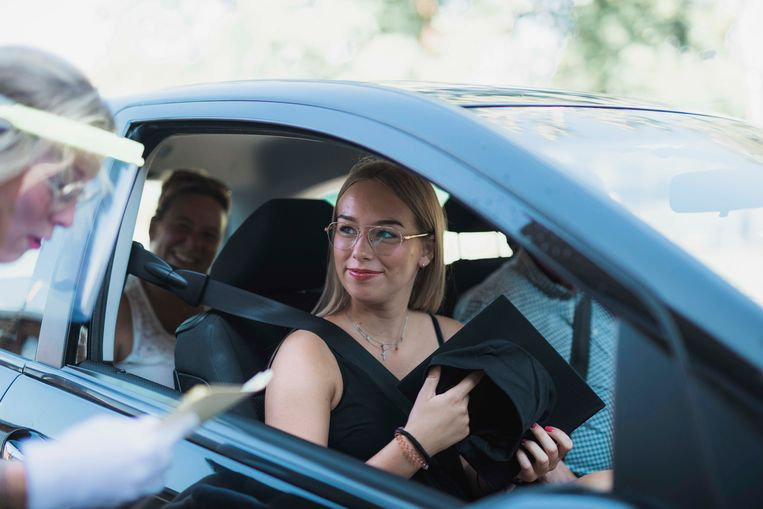 Drive-in afstuderen in Sparrendal in Lanaken.