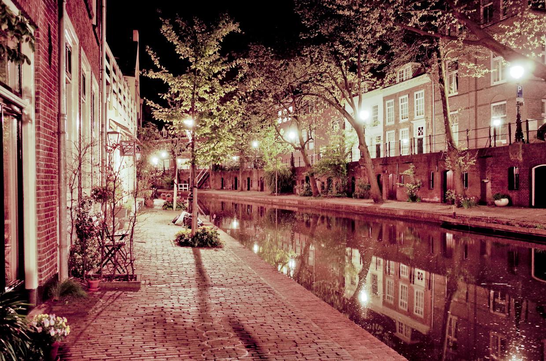 De Oudegracht in Utrecht.